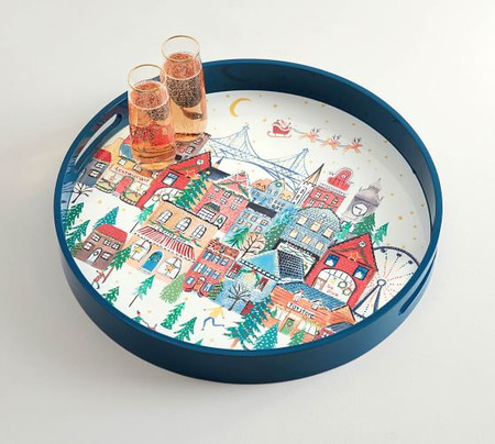 Christmas in the City Serving Tray