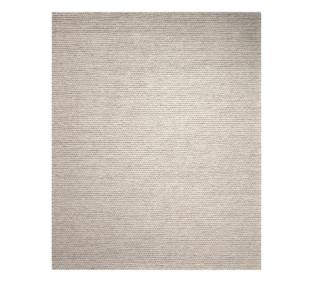 Chunky Knit Sweater Rug - Heathered Grey