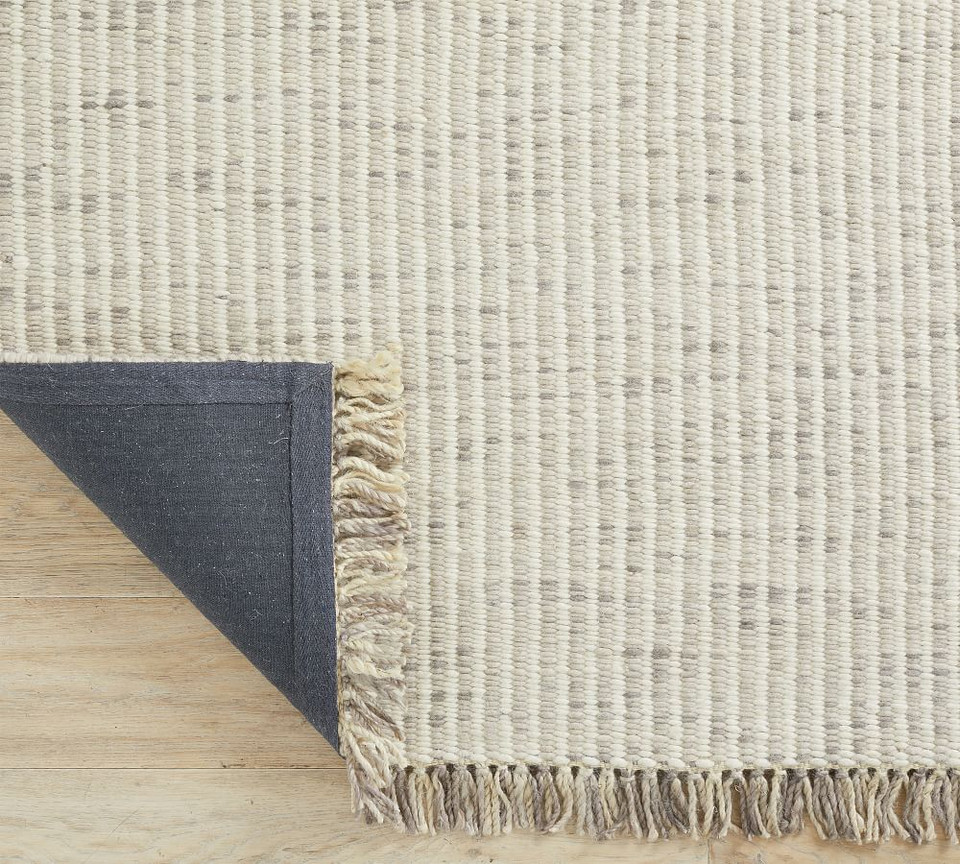 Chunky Handwoven Wool/Jute Rug - Grey Multi