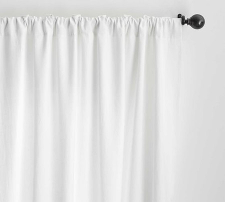 Classic Belgian Flax Linen Curtain - White