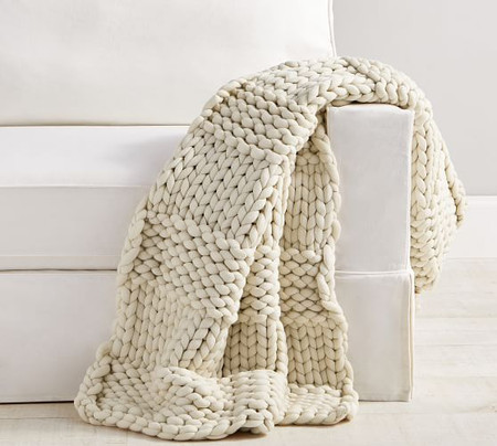 Colossal Chunky Hand-Knit Throw