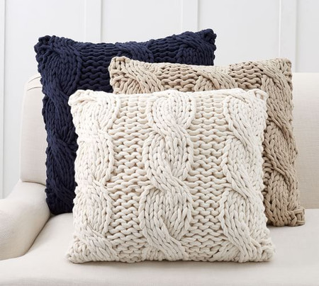 Colossal Handknit Cushion Covers