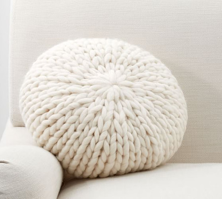 Cosy Knit Round Cushion