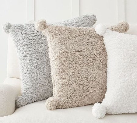 Cosy Pom Pom Cushion Cover
