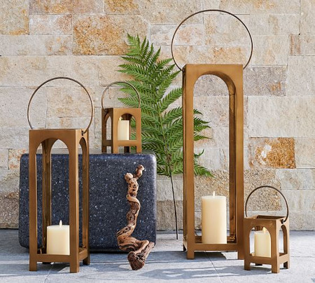 Danika Handcrafted Brass Lanterns