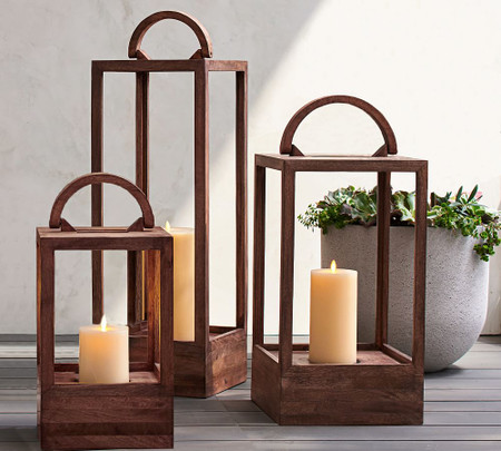 Decker Mango Wood Lanterns
