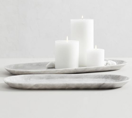 Decorative Oblong Marble Tray