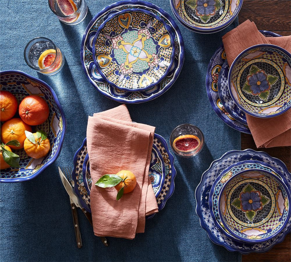 Del Sol Melamine Dinner Plates Pottery Barn Australia