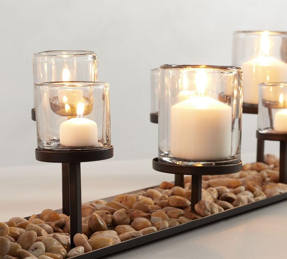 Draper Bronze Multi Pillar Candle Holder Centrepiece
