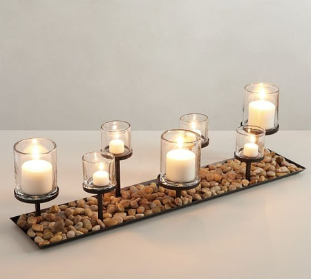 Draper Bronze Multi Pillar Candle Holder Centrepiece