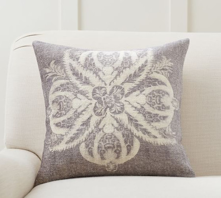 Elenor Damask Medallion Cushion Cover