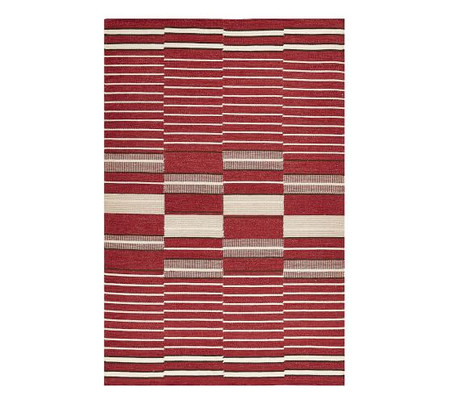Ellington Flatweave Rug - Red Multi