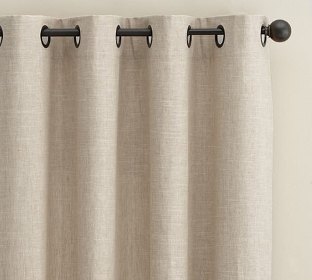 Emery Linen/Cotton Grommet Blackout Curtain - Oatmeal