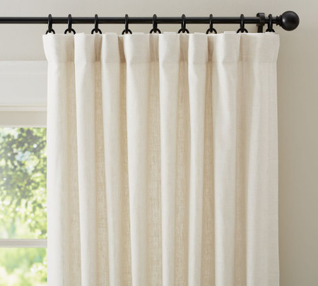 Emery Linen/Cotton Curtain - Ivory