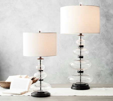 Estelle Stacked Glass Table Lamp Base