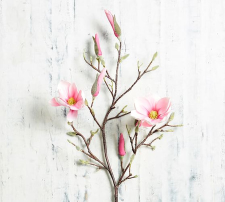 Faux Blooming Magnolia Branch