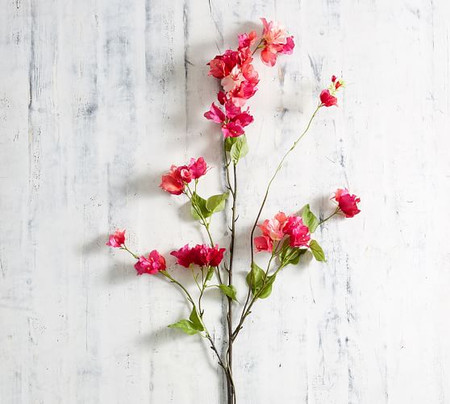 Faux Pink Bougainvillea Branch