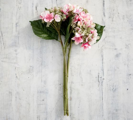 Faux Budding Hydrangea Bouquet - Pink