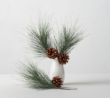 Faux Evergreen & Pinecone Decorative Filler