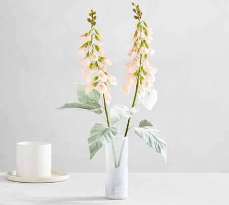 Faux Foxglove Stem - Light Pink