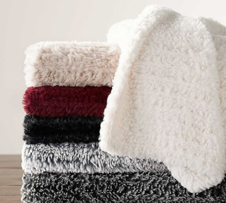 Faux Fur Knitted Throws