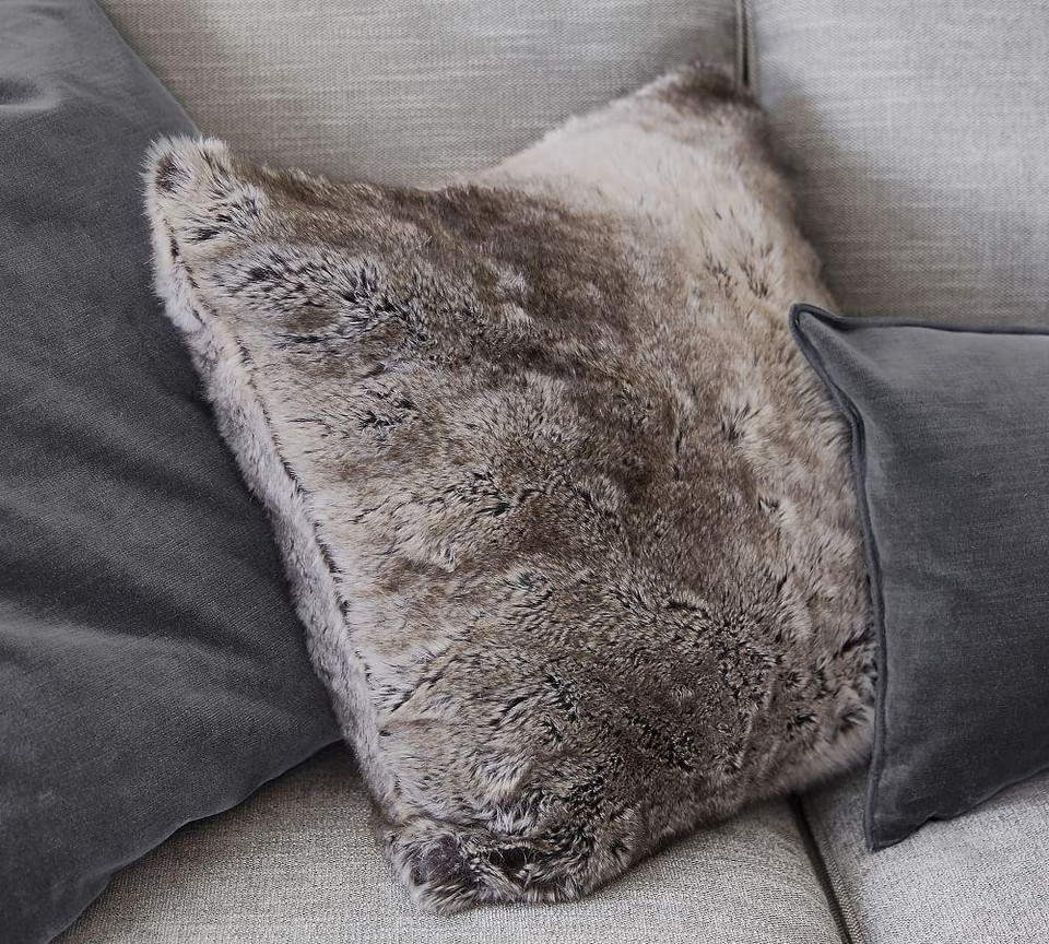 Faux Fur Ombre Cushion Covers Pottery Barn Australia