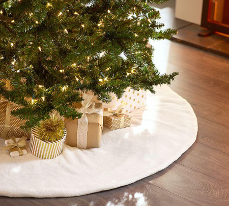 Faux Fur Tree Skirt Collection