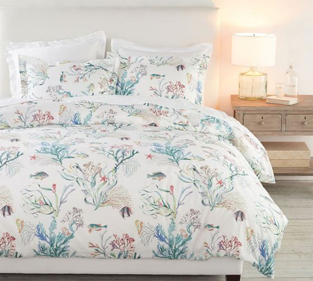 Fisher Coastal Reversible Cotton Quilt Cover & Pillowcases