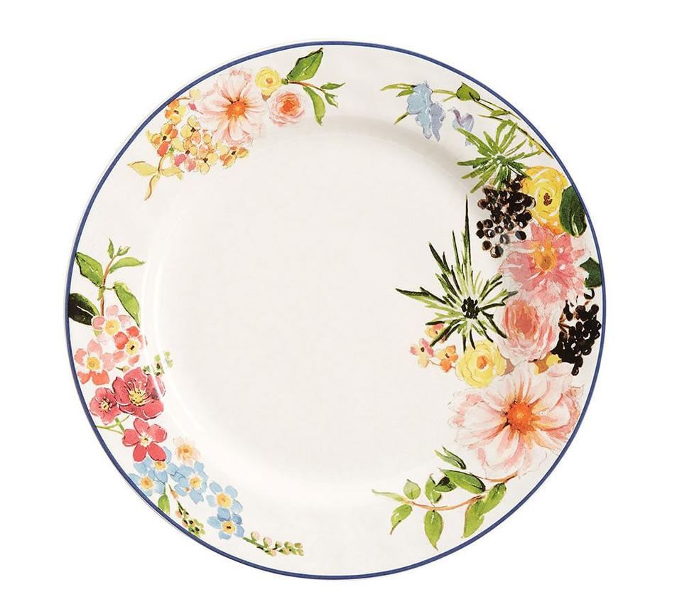 Floral Rim Dinner Plate Set Of 4 Pottery Barn Australia