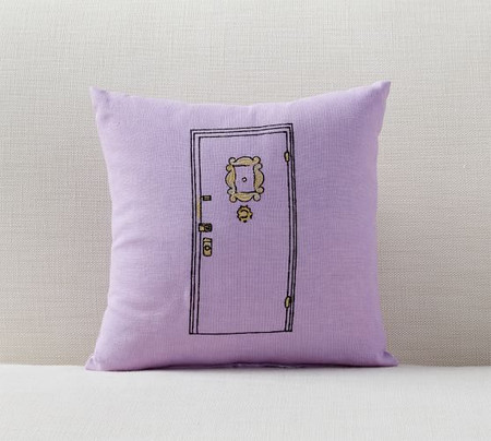 Friends Apartment Door Cushion