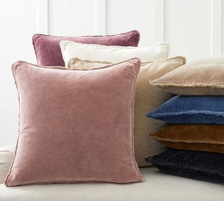 Fringe Velvet Cushion Covers