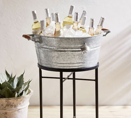 Galvanized Metal Party Bucket