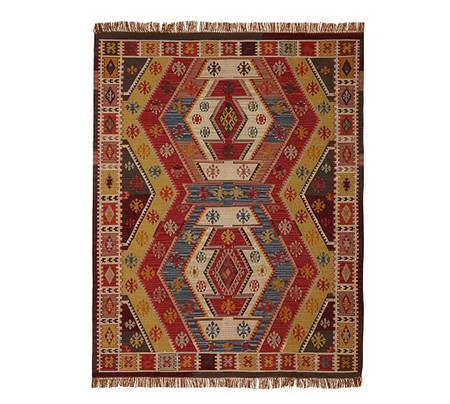 Gianna Recycled Yarn Kilim Indoor/Outdoor Rug - Warm Multi