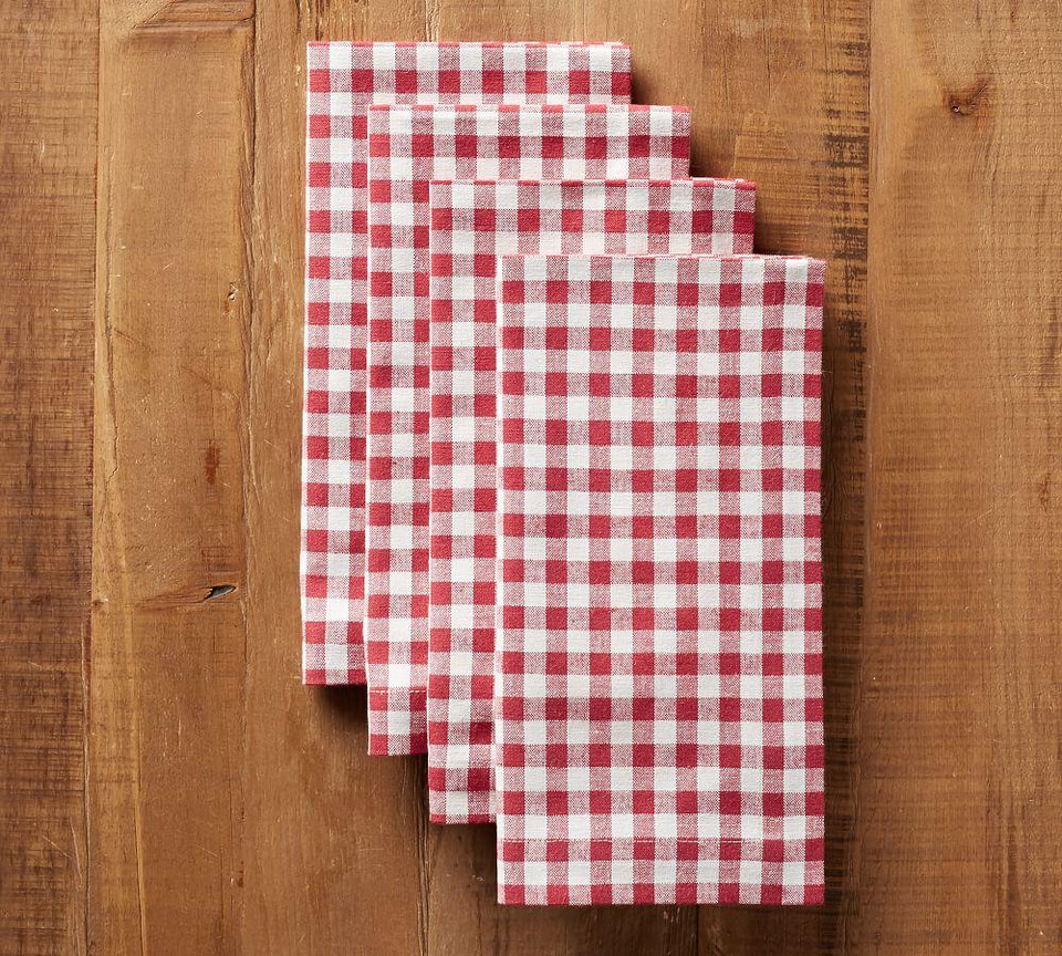 Gingham Napkin - Red