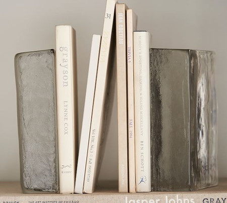 Glass Slab Bookends