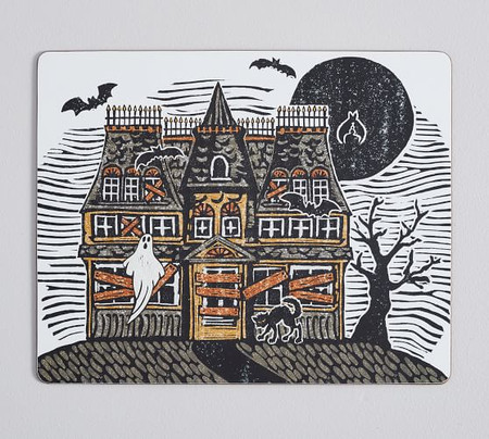 Haunted House Cork Placemats - Set of 4