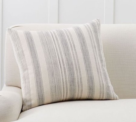 Hawthorn Stripe Sherpa Back Cushion Cover