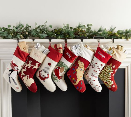 Holiday Icons Crewel Stockings