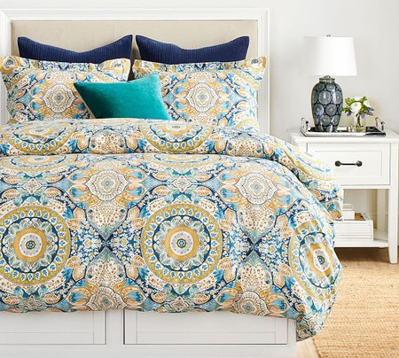 Izzy Medallion Organic Cotton Quilt Cover & Pillowcases