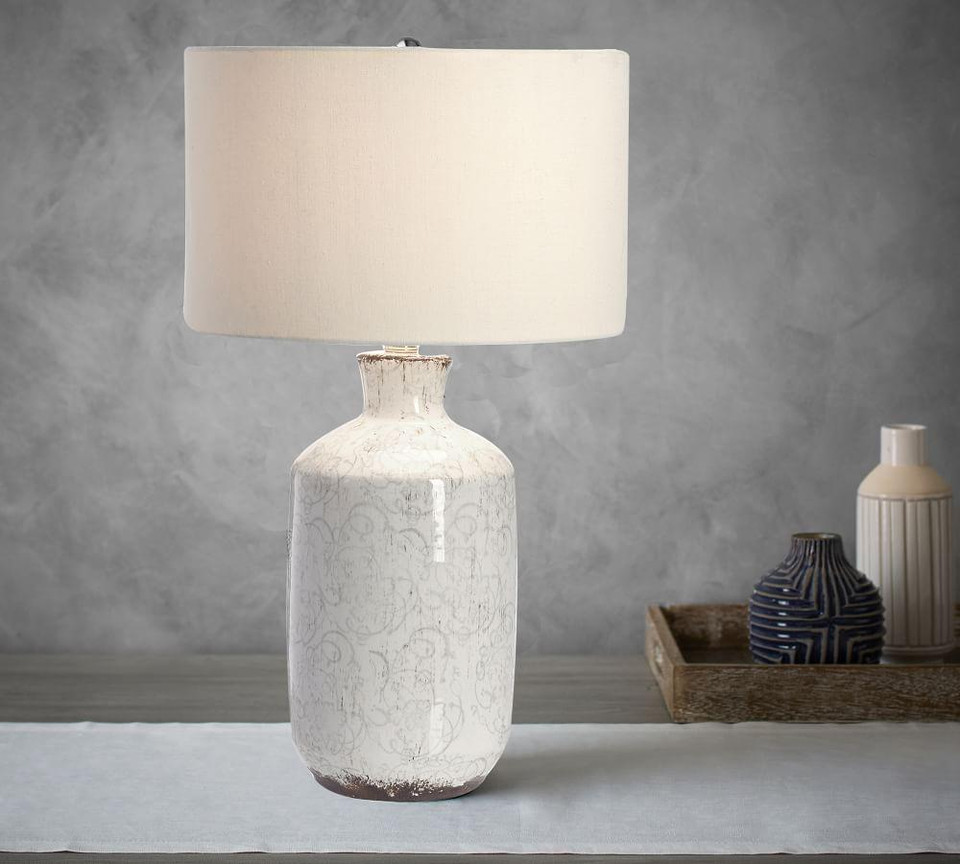 Jamie Young Bethany Ceramic Column Table Lamp | Pottery ...
