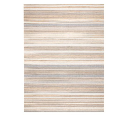 Keegan Stripe Natural Fibre Rug - Neutral Multi