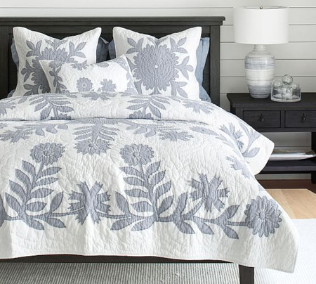 Lilo Handcrafted Cotton Coverlet & Pillowcases - Chambray