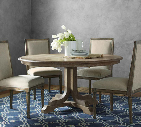 Linden Fixed Round Table - Belgian Grey (152 cm)