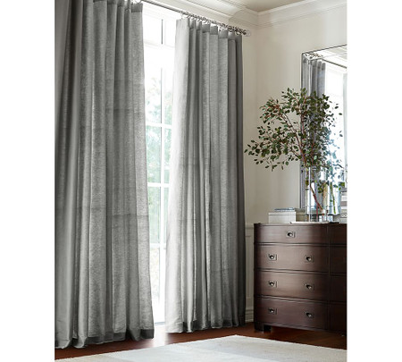 Dupioni Silk Curtain - Platinum Grey