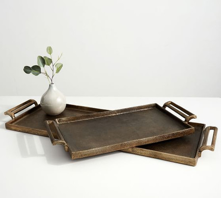 Long Gold Metal Tray