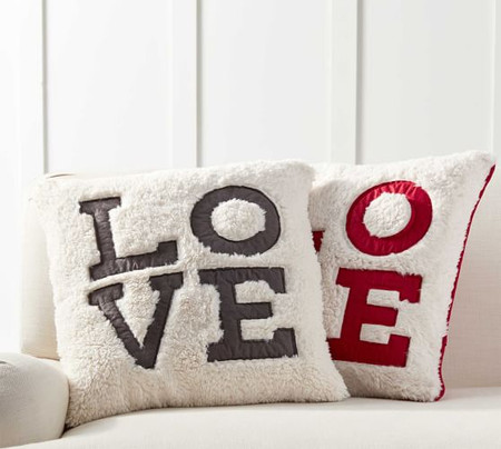 Love Sherpa Cushion Cover