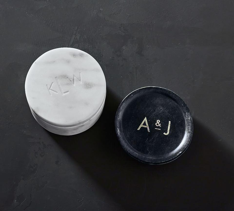 White Marble Divided Salt Cellar Pottery Barn Australia