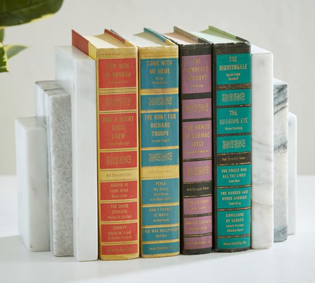 Marble Step Bookends