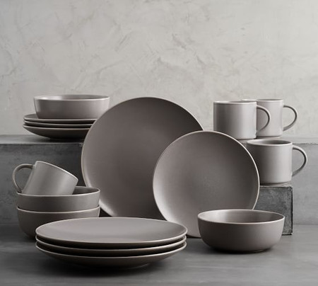 Mason Dinnerware Set - Charcoal