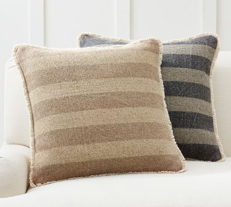 Mason Reversible Solid Striped Cushion Covers